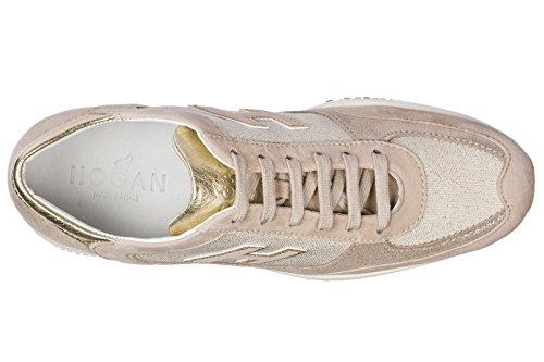 Chaussures Hogan Sneakers Beige Baskets en Femme Daim Interactive BrrdxpqE