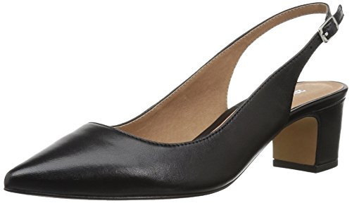 Image of 206 Collective Women's Laila Sling Back Dress Pump, Black Leather, 8 B US