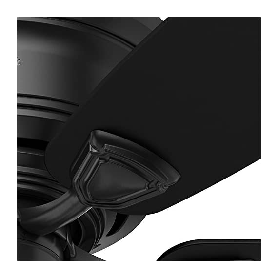 """Hunter Fan Company 53118 Ceiling Fan, 48"""", Black 4 <p>The low-profile motor housing and 48-inch blade span make this product ideal for small rooms or low ceilings and the sea wind is damp-rated for covered porches or rooms with lots of moisture. The design is simple and casual, making it flexible enough to accommodate many different types of décor. Choose from matte black or white finishes. WhisperWind motor delivers ultra-powerful air movement with whisper-quiet performance so you get the cooling power you want without the noise you don't Reversible motor allows you to change the direction of your fan from downdraft mode during the summer to updraft mode during the winter 5 Matte Black Plastic blades included 13 degree blade pitch optimized to ensure ideal air movement and peak performance ETL Damp-rated for use in covered porches, patios and sunrooms Included pull chain allows for quick and easy on/off and speed adjustments Limited Lifetime Motor Warranty is backed by the only company with over 125 years in the fan business</p>"""