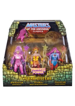 - He-man She-ra Masters of the Universe Classics Exclusive Action Figure 3 Pack Star Sisters Starla Jewelstar Tallstar Mattel