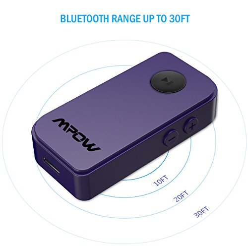 Mpow Bluetooth Receiver, Protable Bluetooth 4.1 Car Adapter &
