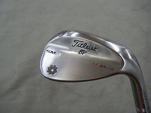 Titleist Vokey SM6 Tour Chrome Wedge Right 56 8 M Grind True Temper Dynamic Gold Steel Wedge by Titleist