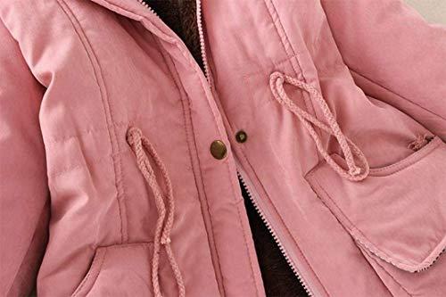 De Elegantes Largo Fashion Battercake Tallas Grandes Parka Outerwear Mujeres Largas Abrigos Invierno Transición Cómodo Rosa Con Caliente Piel Capucha Mujer Casuales Manga Chaqueta wwtvH4