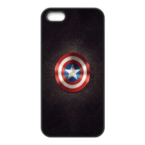Captains Shield2 coque iPhone 5 5S cellulaire cas coque de téléphone cas téléphone cellulaire noir couvercle EOKXLLNCD22659