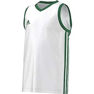 adidas Y Commander J - Camiseta para niño, Color Blanco/Verde, Talla 116