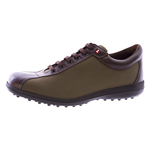 Bally Golf Women Orlando Leather Golf Shoes 9.5 Green Brown