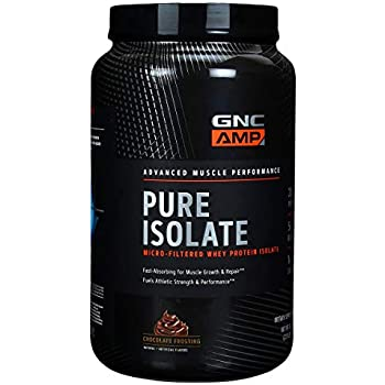 GNC AMP Pure Isolate, Chocolate Frosting, 1.95 lbs, Fuels Athletic Strength and Performance