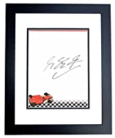 Michael Schumacher Signed - Autographed Formula One Driver 7 x 9.50 inch Stationary - BLACK CUSTOM FRAME - Guaranteed to pass or JSA - PSA/DNA Certified by Real Deal Memorabilia