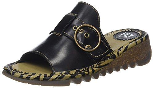 Fly London WoMen Tani807fly Open Toe Sandals Black (Black)