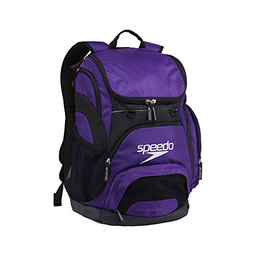Speedo Printed Teamster 35L Backpack, Prism Purple/Black, 1SZ