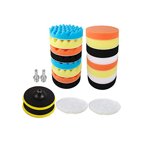 - Sorrento Crafts Pack of 22pcs 3 inch(80mm) Car Polishing Pads Waxing Buffing Sponge Pad Kit Set Foam Buffing Pads (3 inch)