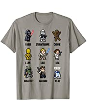 Star Wars Sprite Characters 8-Bit Pixel Graphic T-Shirt