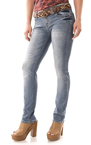 Juniors Belted Jeans - 5