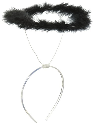 [Forum Novelties 54101 Marabou Halo, Black] (Black Angel Costume Accessories)