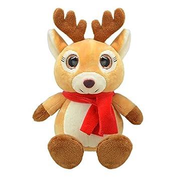ORBYS Wild Planet 15cm Luxury Handmade Xmas Deer Soft Toy. Plush ...