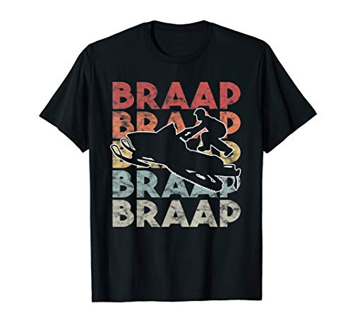 Vintage Braap Snowmobile T-Shirt I Retro Snow Sled Gift ()