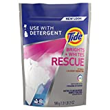 Tide Brights and Whites Rescue Laundry Pacs In-Wash Detergent Booster, 27 Count (Packaging May Vary)
