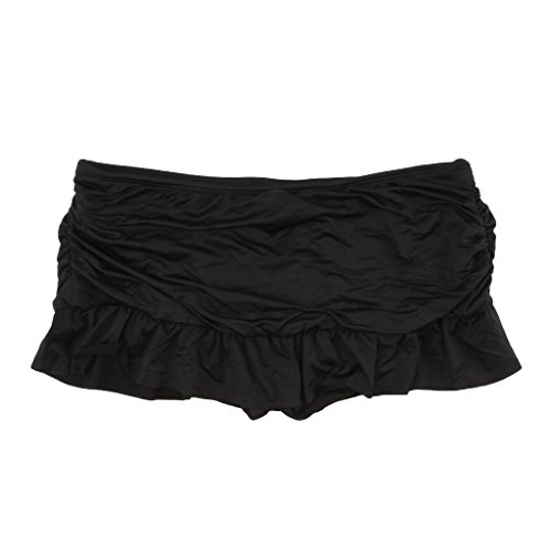 Apt 9 Black Ruched Swim Skirtini Bottoms for Women ()