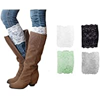 HipGirl Baby, Girl and Women Leg Warmers (4 Pairs Women Lace Boot Cuff)