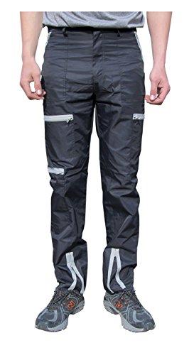 Countdown Classic Nylon 80s Parachute Pants (36, Black/Grey) -