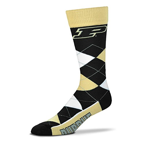 Ncaa Purdue Boilermakers Argyle Unisex Crew Cut Socks   One Size Fits Most