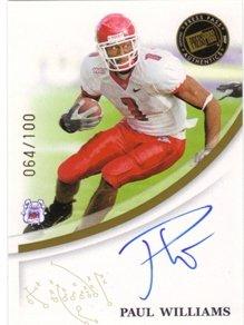 2007 Press Pass RC Autograph Gold #66 Paul Williams RC AUTO /100 NFL Footballl Trading Card