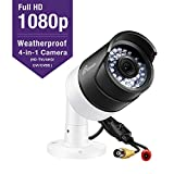 Loocam Full HD 1080p Outdoor Hybrid 4-in-1 Surveillance Bullet Camera, 1920TVL Security Weatherproof Camera with 150ft Night Vision for HD-TVI, AHD, CVI, and CVBS/960H Analog DVR, Metal Housing