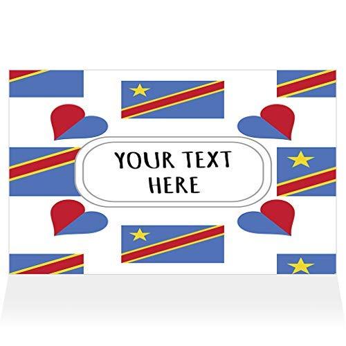 Congo Kinshasa Flag Heart Pattern Horizontal Decorative Metal Sign for Road Tin Art Wall Decor Aluminum - Kinshasa Flag Congo