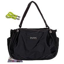 LANDUO Women's Baby Diaper Nappy Tote Bag Large Multifunctional Black