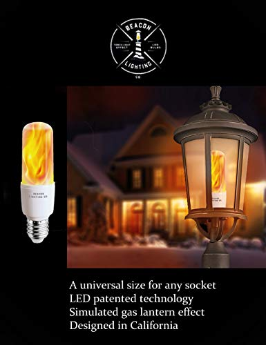 LED Flame Effect Light Bulbs - E26 LED Bulb with Gravity Sensor Flame Night Bulb for Home Hotel Bar Party Decoration