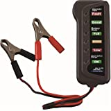 Cartman 12V Car Battery & Alternator Tester - Test Battery Condition & Alternator Charging (LED indication)