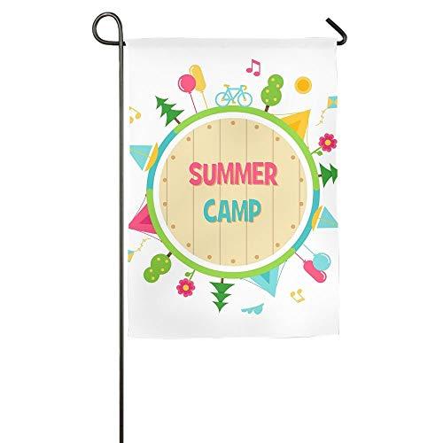NOAID Personalized Garden Flag - Custom Summer Camp