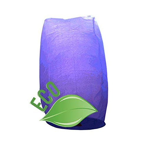 Just Artifacts Wholesale 240 ECO Wire-Free Flying Chinese Sky Lanterns (Set of 240, Wire-Free Cylinder, Purple) - 100% Biodegradable, Environmentally Friendly Lanterns!