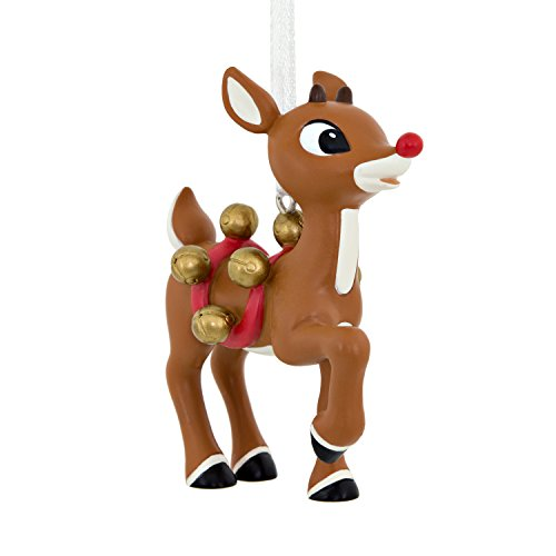 Hallmark C. Media Rudolph with Bells Christmas Ornaments, Rudolph with Bells, Rudolph with Bells