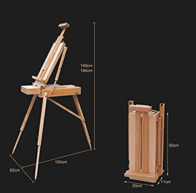 Yuwen Easel Two-in-One Picture Frame Drawing Board, Folding Adjustable Solid Wood Oil Painting Drawer Easel, Student Outdoor Sketch Easel, Art, Art Exhibition