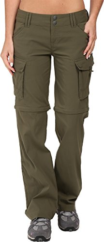 prAna Women's Sage Convertible Tall Inseam Pants, Cargo Green, Size 10
