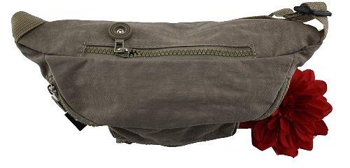 Damen Herren Tasche Gürtel Tasche Hüfttasche Bauchtasche Nylon Beige Neu