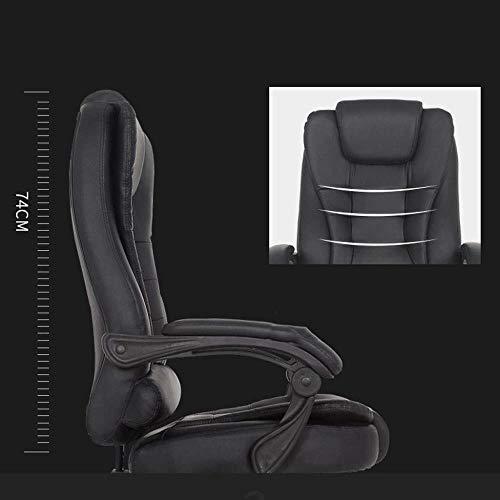 Barstolar Xiuyun svängbar stol – kontorsstol spelstol, hem läder vilande chef stol ergonomisk vilstol nylon fötter massage dator läderstol (färg: Beige)