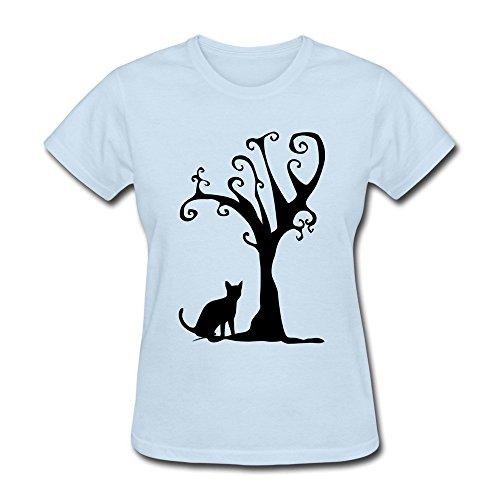 JSFAD Women's Cat Tree T-shirt -