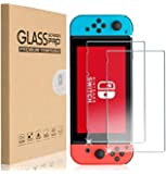 Compatible with TEMPERED GLASS Screen Protector Cover Film Guard Sheet for Nintendo Switch [2 Pack]
