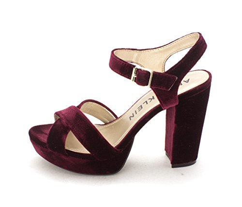 Anne Klein Womens lalima Open Toe Ankle Strap Classic Pumps, Purple, Size 8.0