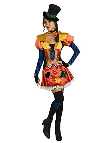 Womens Hobo Clown Adult Halloween Costume Set Dress Choker Hat & Thigh Highs for $<!--$29.99-->