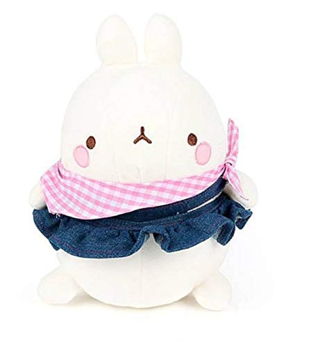 Nuri Toys Molang Blue Jean Skirt Costume Stuffed Animal Rabbit Plush Toy -