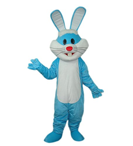 MascotShows Easter Bunny Rabbit Mascot Costume Adult Size (regular, blue) (Bunny Rabbit Mascot Costumes)