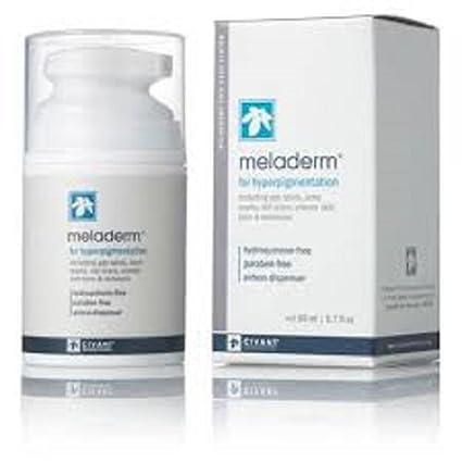 Meladerm blanquear de la piel Crema para aclarar, complejo reductor de pigmentos. Incluyendo la
