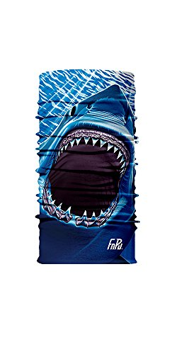O&W (3D)Printing Lovely UV Shark Headwear Bandana Balaclava Neck Gaiter Helmet Liner Face Mask.For Cycling Hunting Riding Running and Outdoor Actives Pack of 1 ¡­ (Shark Face Helmet)