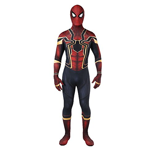 Reach Unisex Lycra Spandex Zentai Halloween Cosplay Costumes Adult/Kids 3D Style, Mens-X-Large, Red
