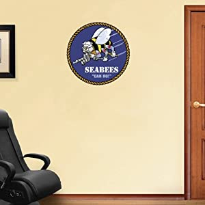 "Seabees US Army Wall Decal Sticker 22"" x 22"""