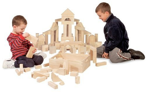 Melissa & Doug Solid-Wood Building Blocks (60 pcs)
