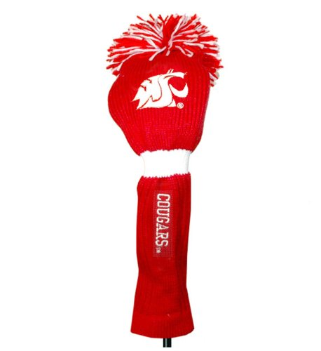 Team Golf NCAA Washington State Cougars Pom Pom Golf Club Headcover, Classic Knit Style, Extra Long Sock for Shaft Protection, Elastic Middle to Prevent Falling Off